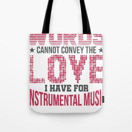 Instrumental Music  Musician Gift Tote Bag