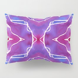 Cracked ink Purple Pillow Sham