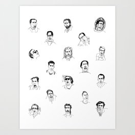 100 Portraits of Nicolas Cage Art Print