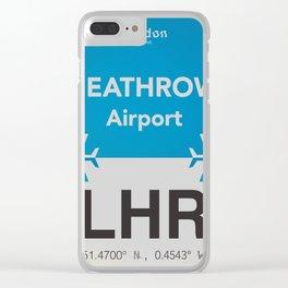 LHR Heathrow airport Clear iPhone Case