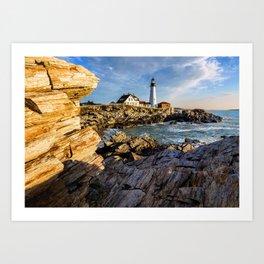 Cape Elizabeth Lighthouse New England Art Print