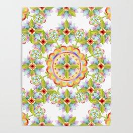 Starflower Blossoms Poster
