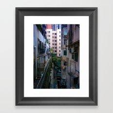 Hong Kong Alley Framed Art Print