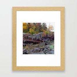 Rock and Foliage Framed Art Print