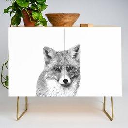Black and White Fox Credenza