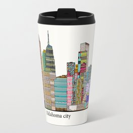 oklahoma city skyline Travel Mug