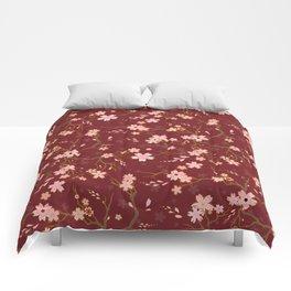 Red Sakura Batik Comforters