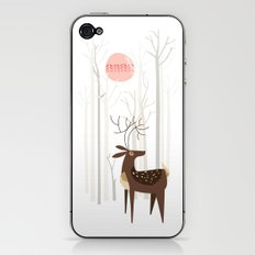 Reindeer of the Silver Wood iPhone & iPod Skin