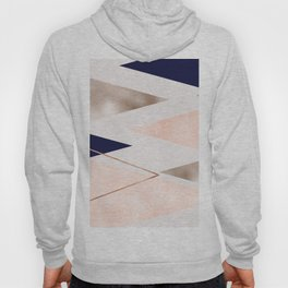 Rose gold french navy geometric Hoody