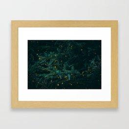 Evergreen and Golden Lights (Color) Framed Art Print