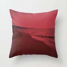Dreamscape red Throw Pillow