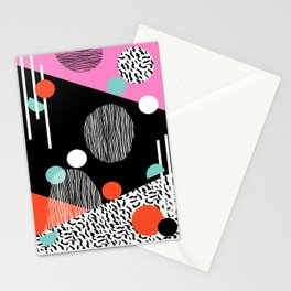 Mega Bulk - 80s style throwback retro pattern art memphis grid pattern minimalist 1980's Stationery Cards
