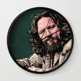 The Dude by STENZSKULL Wall Clock