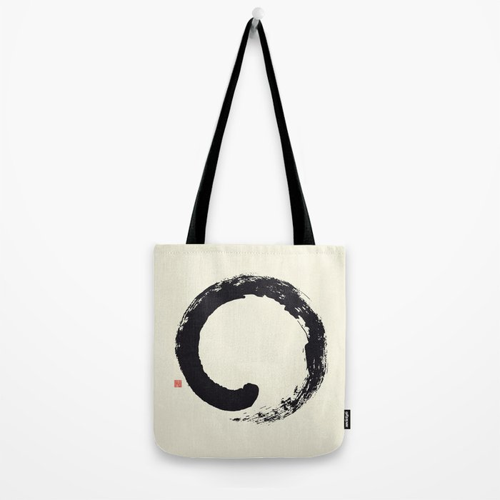 Enso / Japanese Zen Circle Tote Bag