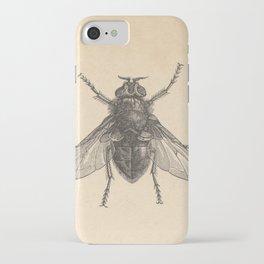 Antique Housefly Illustration iPhone Case