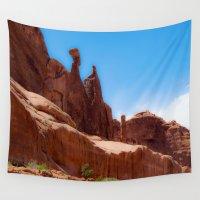 utah Wall Tapestries featuring Giants - Moab, Utah by Susy Margarita Gomez