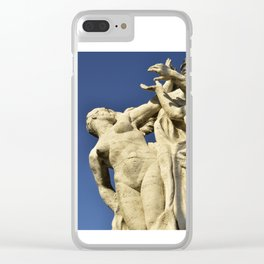 Roman Statues over the Tiber, Rome-Italy Clear iPhone Case