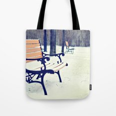 One snowy morning... Tote Bag