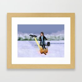 Winter Campfire Framed Art Print