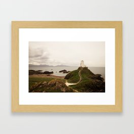 Tŵr Mawr Lighthouse Framed Art Print