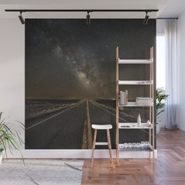 Go Beyond - Road Leads Into Milky Way Galaxy Wall Mural