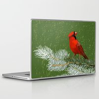 cardinal Laptop & iPad Skins featuring Cardinal by Janko Illustration