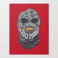 dumb and dumber Canvas Prints featuring A Real Nice Ski Mask - Dumb and Dumber by Panda McFan