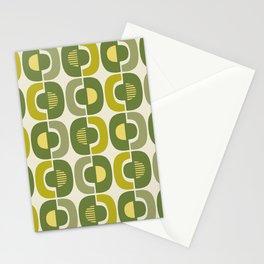 Retro Mid Century Modern Pattern 341 Stationery Cards