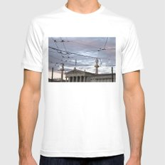 Wired Sky Mens Fitted Tee White SMALL