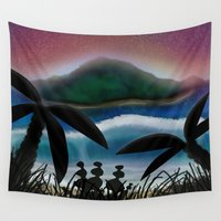 paradise Wall Tapestries featuring Paradise by ShaylahLeigh