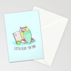 Reading Owl Stationery Cards