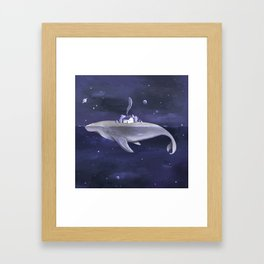 Galaxy Whale Framed Art Print