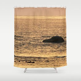 Golden Hour on the Sea Shower Curtain