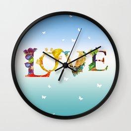 Love In The Air Wall Clock
