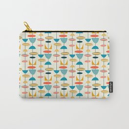 Mid century modern abstract shapes pattern Carry-All Pouch