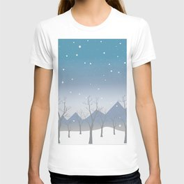 Winter landscape with trees T-shirt