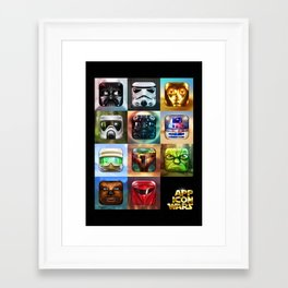 App Icon Wars Collected Works Framed Art Print