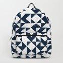 Navy blue geometric pattern by deanng