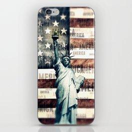 Vintage Patriotic American Liberty iPhone Skin