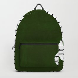 lines and wave (green) Backpack