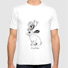 Le Jackalope Mens Fitted Tee MEDIUM White