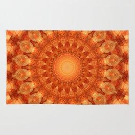 Mandala orange  Rug