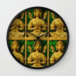 praying budda Wall Clock