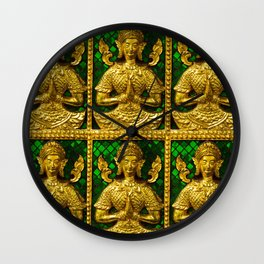 praying budda Wall Clock