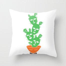 Cactus Tree Bowl Throw Pillow