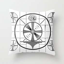Indian Head Test Pattern Throw Pillow