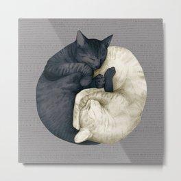 yin-yang cats mid Metal Print