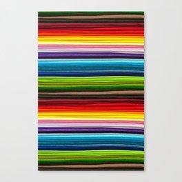 Indian Summer Colors Stripe Canvas Print