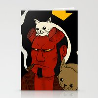 hell Stationery Cards featuring hell by nu boniglio