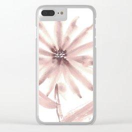 Monochromatic Flower Study Mauve Clear iPhone Case